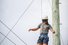 High Ropes* – Take a leap of faith as you climb hardwood poles and jump across 10 metre spans 8 metres above ground. *Please note: The high ropes requires specific qualified instructors, site hire and an age limit applies