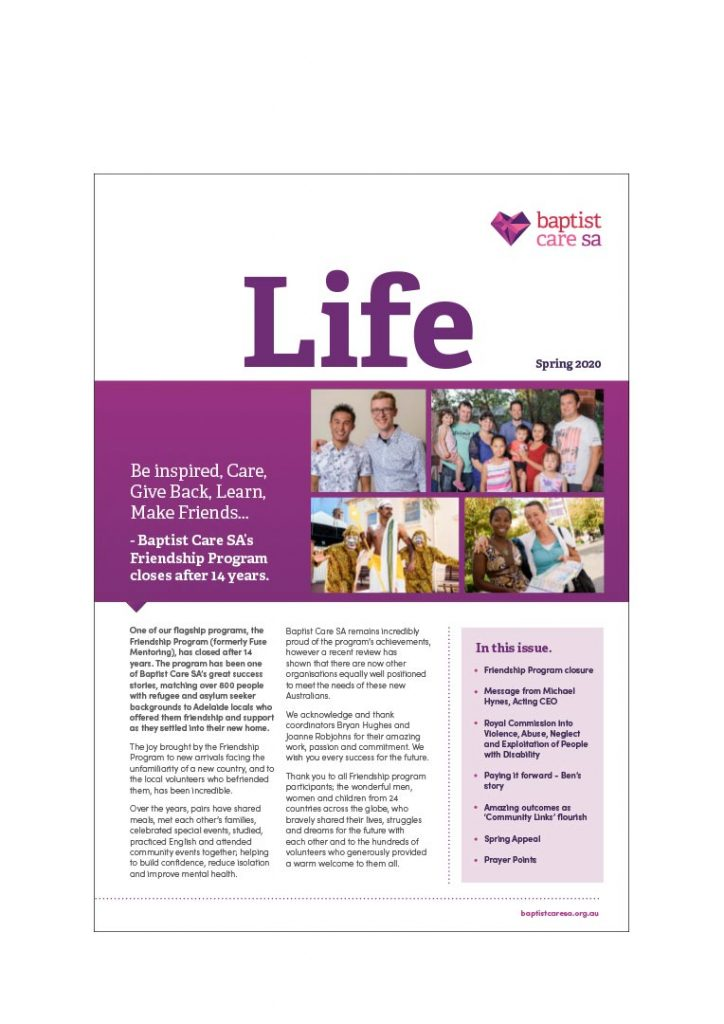 Life Spring Newsletter 2020 Cover Img